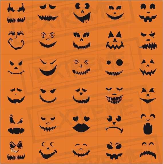 halloween kürbis gesichter vorlagen erstaunlich 30