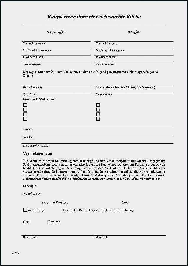 Kaufvertrag Ebay Vorlage Wunderbar Kaufvertrag Kuche Muster
