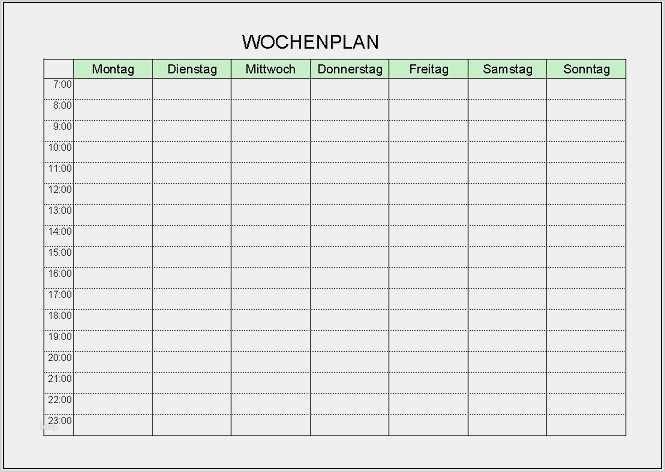 Stundenplan Vorlage Uni